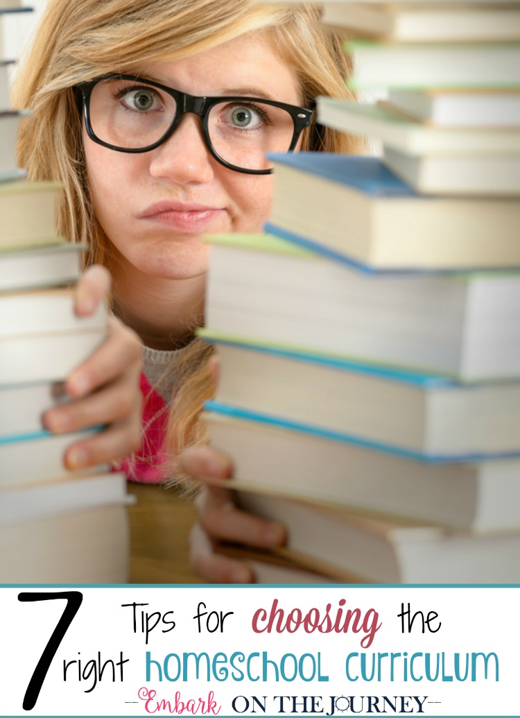 Different seasons in our homeschooling journey have called for different styles of curriculum to fit our different stages of life. Here are 7 tips for evaluating your homeschool and choosing the right curriculum for your family. | embarkonthejourney.com