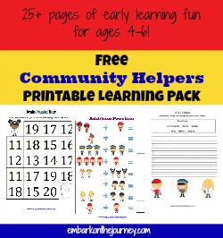FREE Community Helpers Learning Pack and Resources