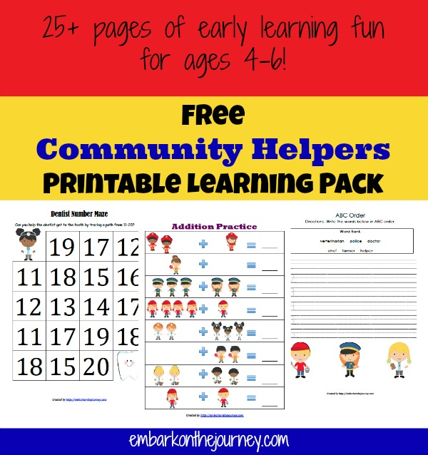 living montessori now has a great list of police printables for preschoolers kindergartners community helpers flash cards - Community Workers