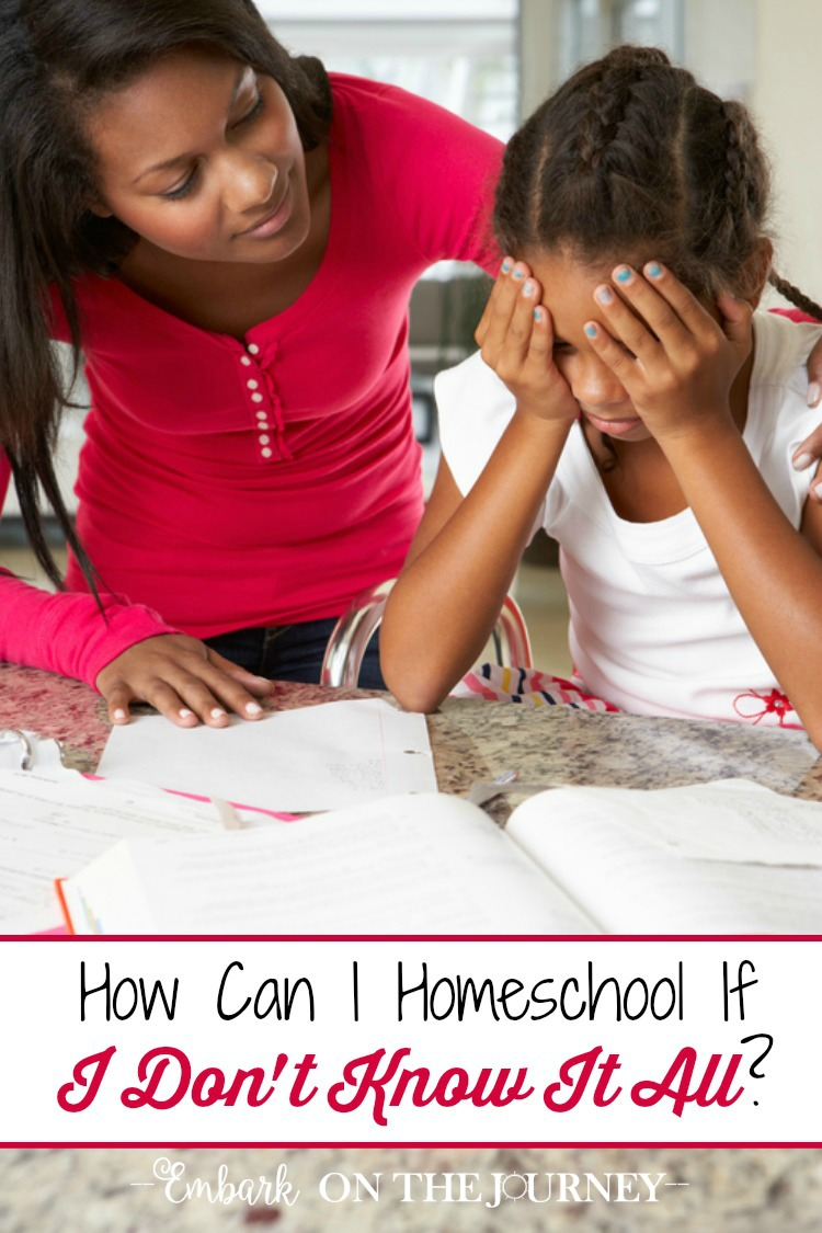 """Homeschool moms often worry about gaps in their child's education. They wonder, """"How can I homeschool if I don't know it all?"""" Here are some amazing truths that will give you the confidence you need to embark on your homeschool journey! 