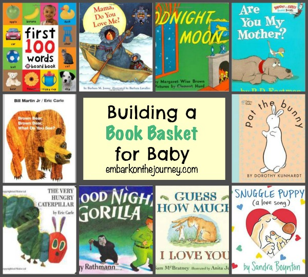 Building a Book Basket for Baby #babyshower | embarkonthejourney.com