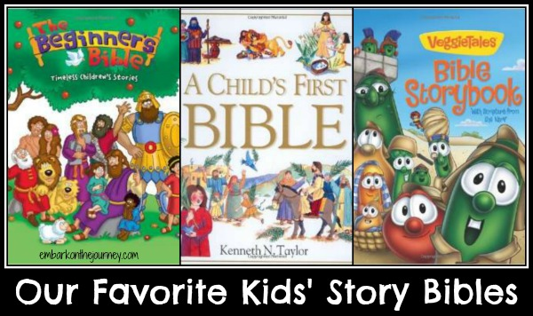 I loved reading Kids Story Bibles when my kiddos were little. I was planting seeds of God's Word from the beginning. | embarkonthejourney.com