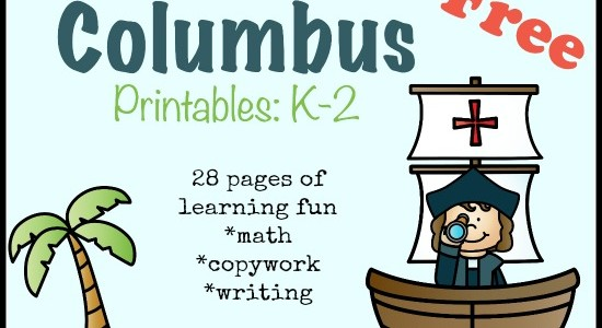 Christopher Columbus Resources and Printables