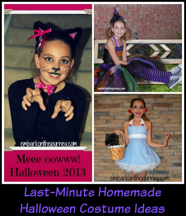 Last Minute Homemade #Halloween Costume Ideas | embarkonthejourney.com
