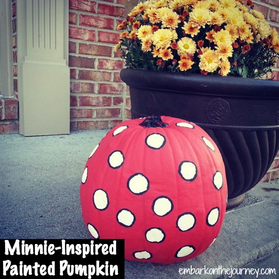 Minnie-Inspired Painted Pumpkin | embarkonthejourney.com