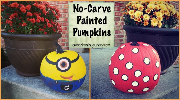 No-Carve Painted #Halloween Pumpkins | embarkonthejourney.com