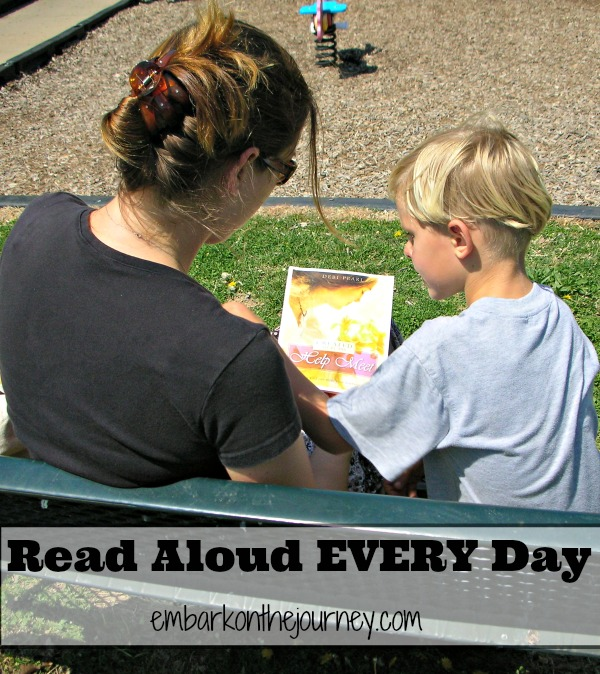 Foster a love of reading in your child by reading aloud every day! | embarkonthejourney.com