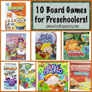 Favorite Board Games for Preschoolers