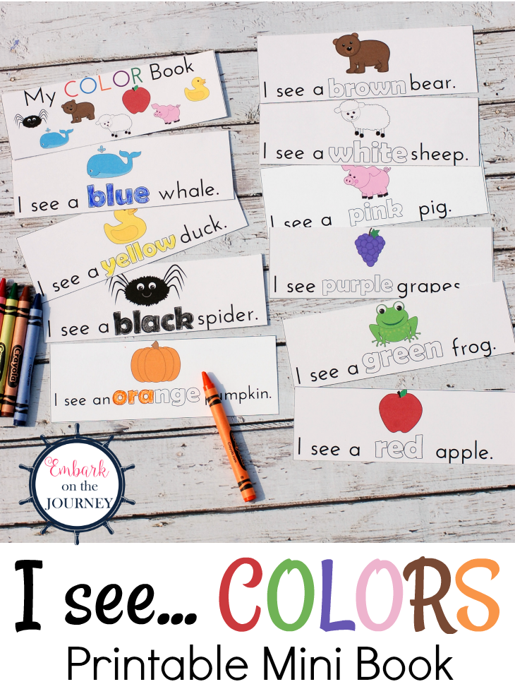 Here's a great collection of books for teaching colors! Be sure to grab the printable I See... Colors mini book while you're here!