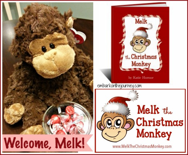 #Melk the Christmas Monkey | embarkonthejourney.com