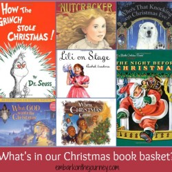 Our Christmas Book Basket and a Link-Up