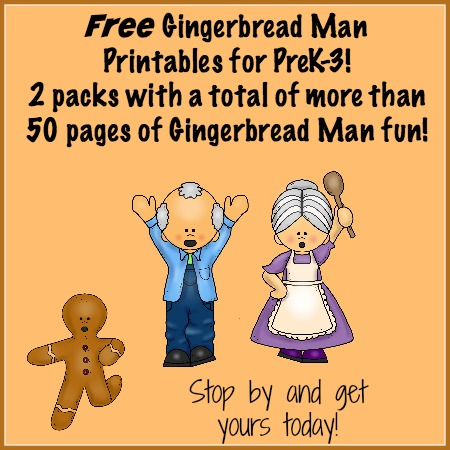 ... gingerbread man printables today there are two new gingerbread themed