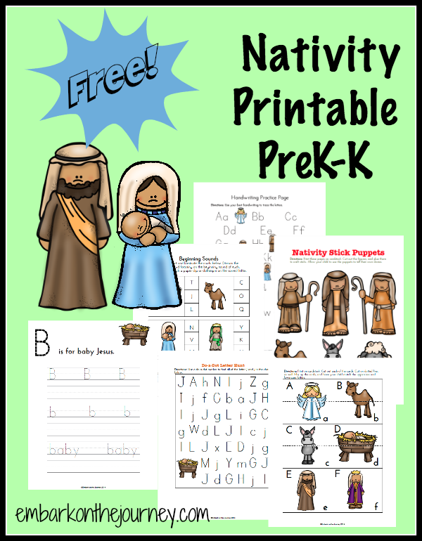 free nativity prek k printable