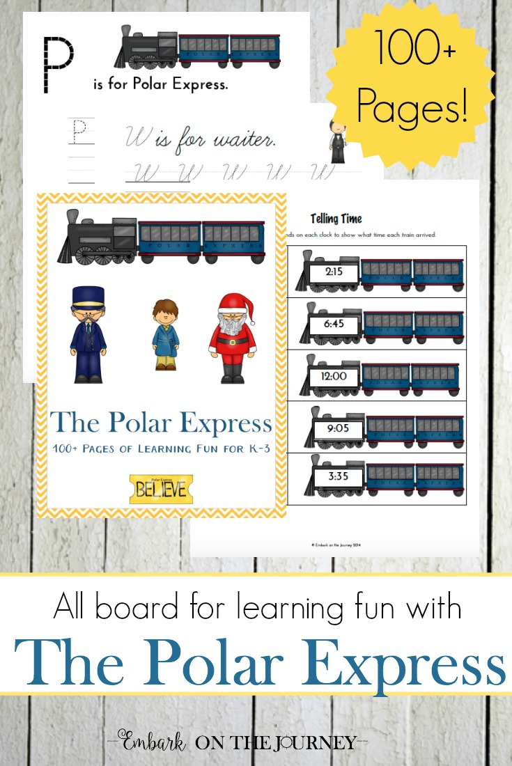 All aboard for holiday learning fun with this 100+ page Polar Express learning pack for K-3! | embarkonthejourney.com