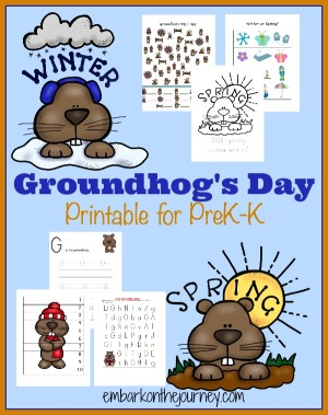 Groundhog's Day Printable for PreK-K