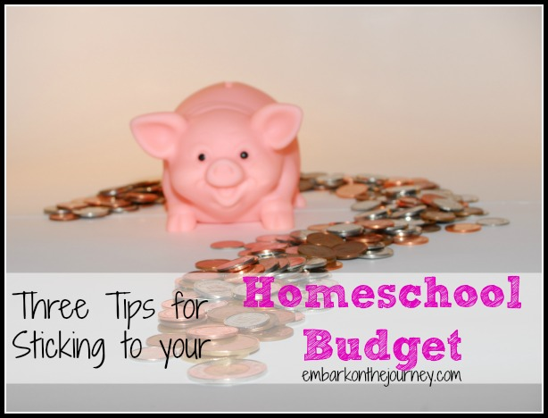 Here are three tips to help you stick to your homeschool budget. | embarkonthejourney.com