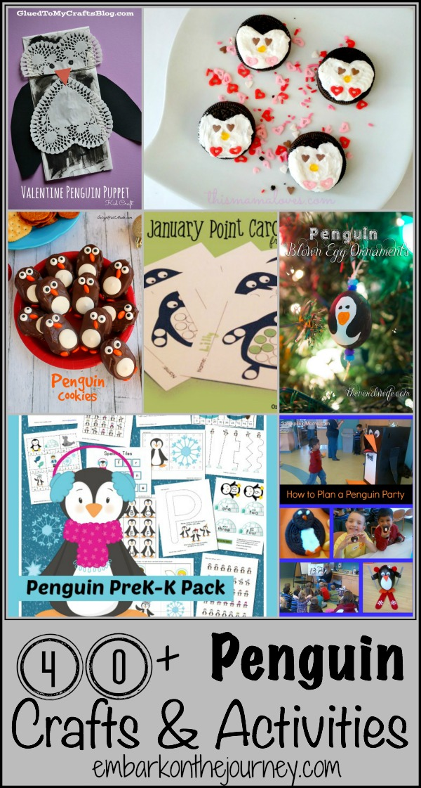 Penguin Crafts and Activities | embarkonthejourney.com