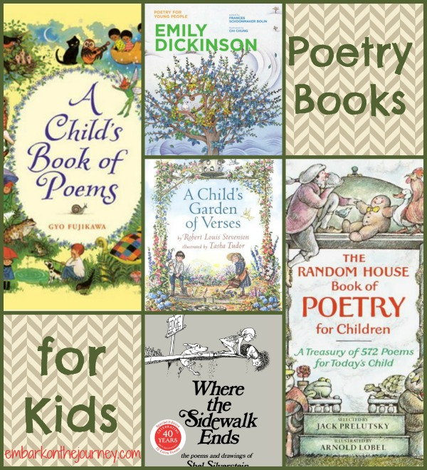 Poetry Books for Kids | embarkonthejourney.com