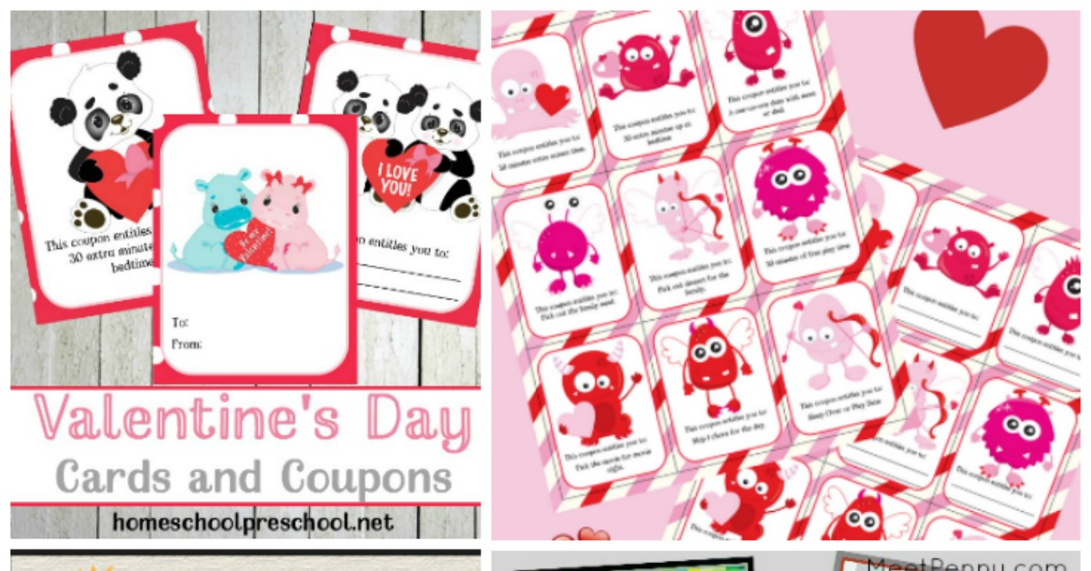 Free Printable Valentines Day Cards for Kids