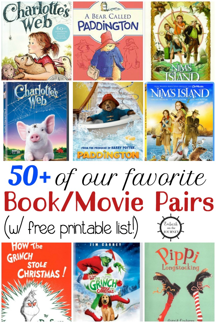 Here it is! An amazing list of the best kids movies based on books that kids in grades K-5 will enjoy! | embarkonthejourney.com