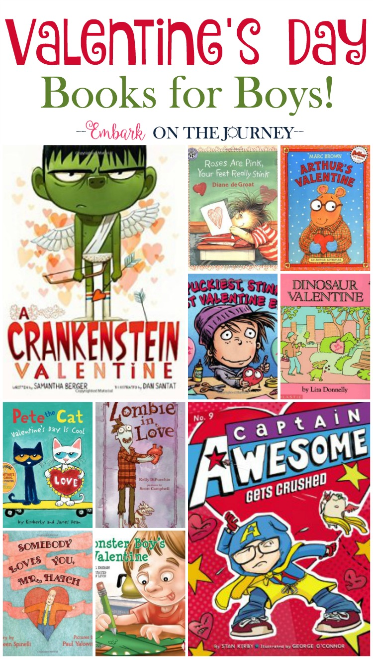 There are no mushy-gushy books on this list! Your boys will love these Valentine's Day Books for Boys! | embarkonthejourney.com