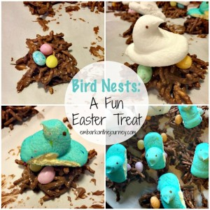 Bird Nest Easter treats kids can make! | embarkonthejourney.com