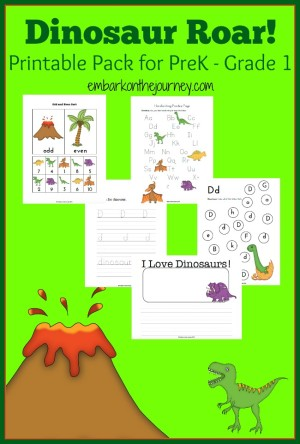 Dinosaur Printable and Activity Round-Up