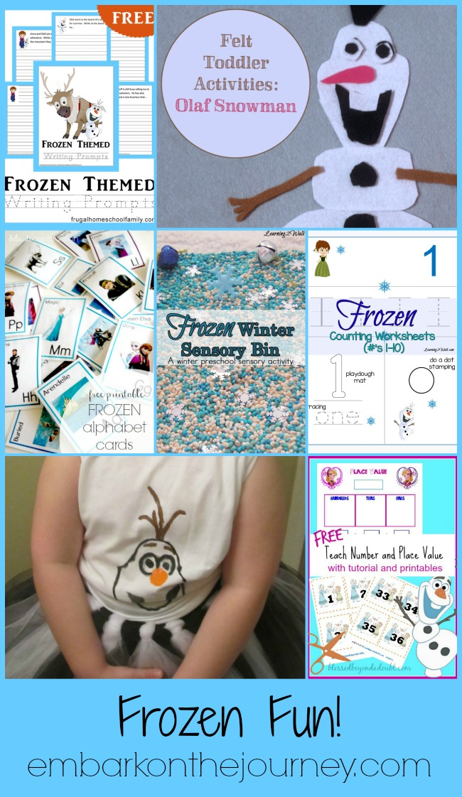 Frozen Fun for the Little Ones! | embarkonthejourney.com