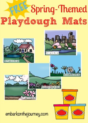 Springtime Playdough Mats and Recipes