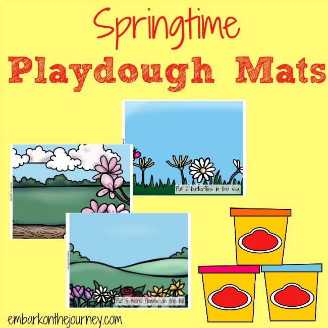 Springtime Playdough Mats