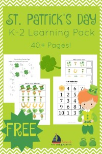This FREE St Patricks Day learning pack is full of holiday fun for kids in grades K-2. | embarkonthejourney.com