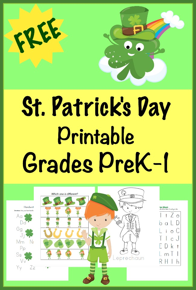 this free st patricks day learning pack is full of holiday fun for kids in grades - St Patricks Day Pictures To Color 2