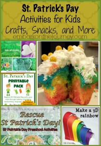St. Patrick's Day crafts, snacks, and activities for kids of all ages | embarkonthejourey.com