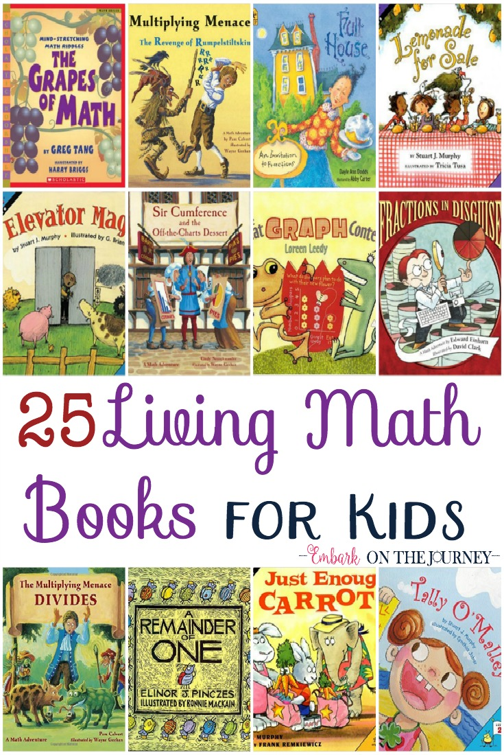 Math is one unexpected place we can bring books into the study to make the concepts more concrete. Kids can see the reasons for learning their math facts. They can see how certain math concepts can be used in the real world. These living math books are the perfect addition to your homeschool library. | embarkonthejourney.com