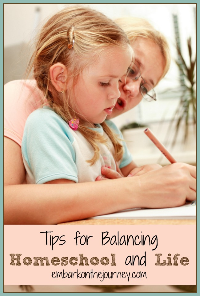 When life gets busy, how do you balance life and homeschooling? | embarkonthejourney.com