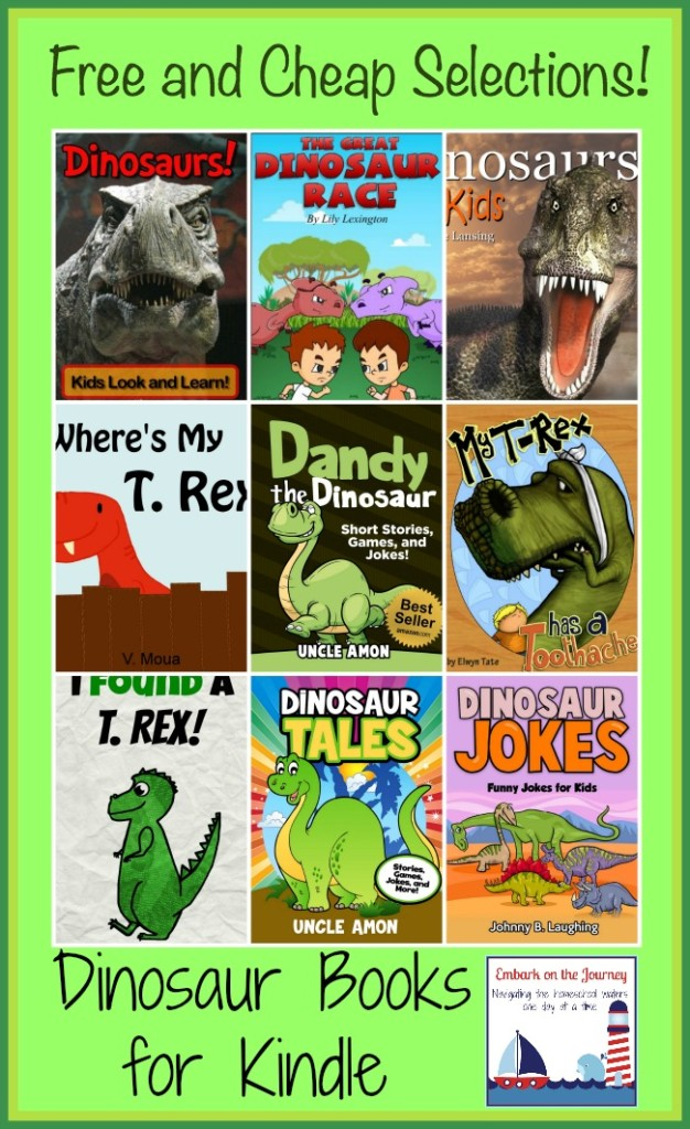 Free and Cheap Dinosaur Books for Kindle | embarkonthejourney.com