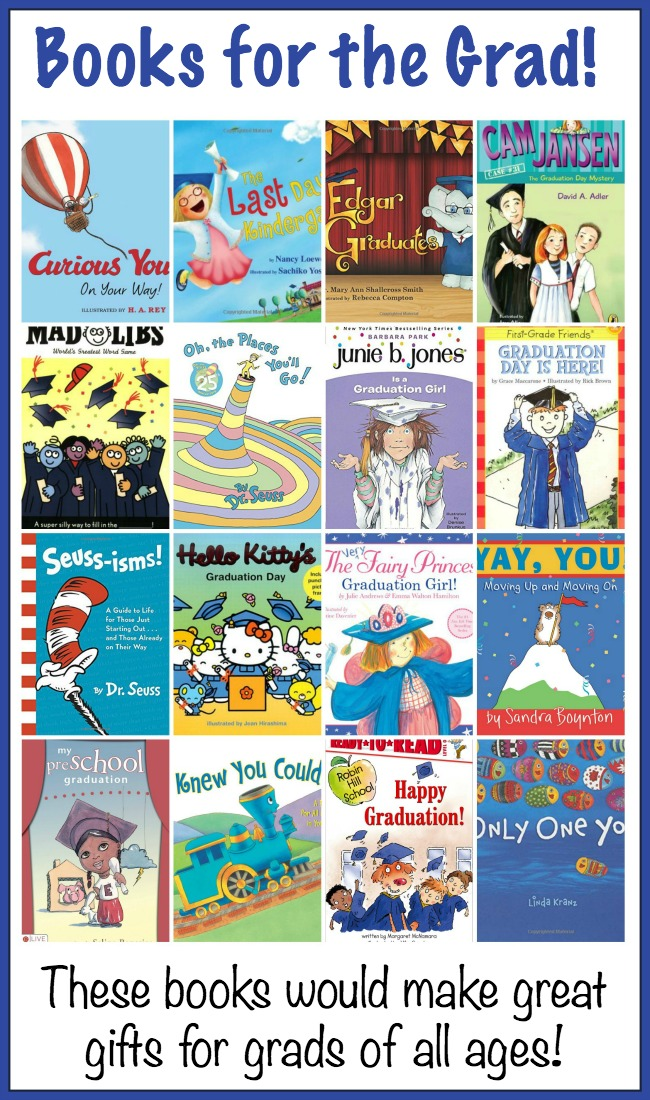 These graduation books will make great gifts for grads of all ages - preschool, kindergarten, high school, and college! | embarkonthejourney.com