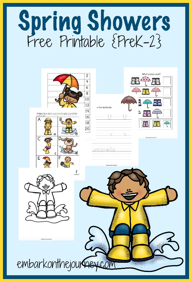 FREE Spring Showers Printable and Activities