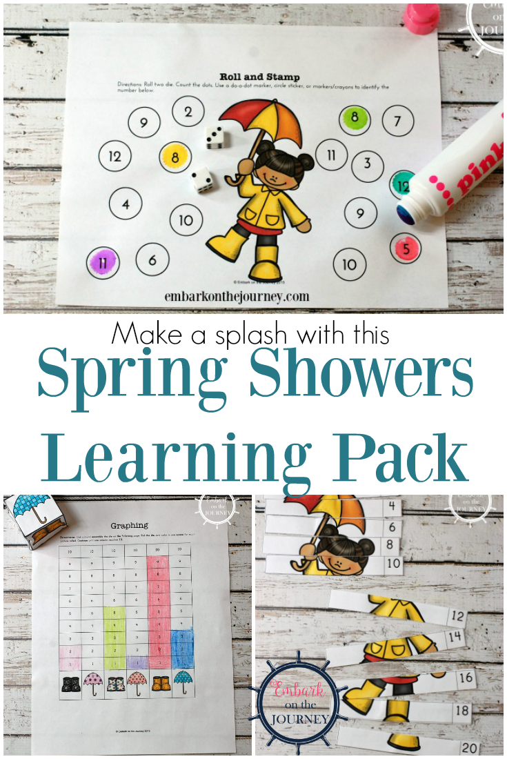 Make a splash this spring by adding this Spring Showers learning pack to your homeschool lessons. It's perfect for kids in PreK-2!