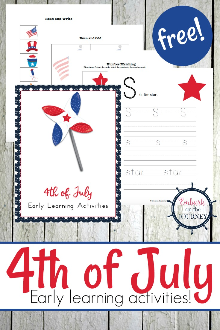 Celebrate the 4th of July with your little learners! This free 25-page printable is perfect for doing just that!