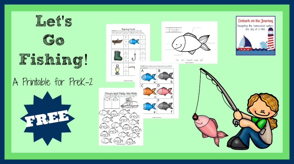 """Let's Go Fishing"" Printable Pack for PreK-2 *FREE* 
