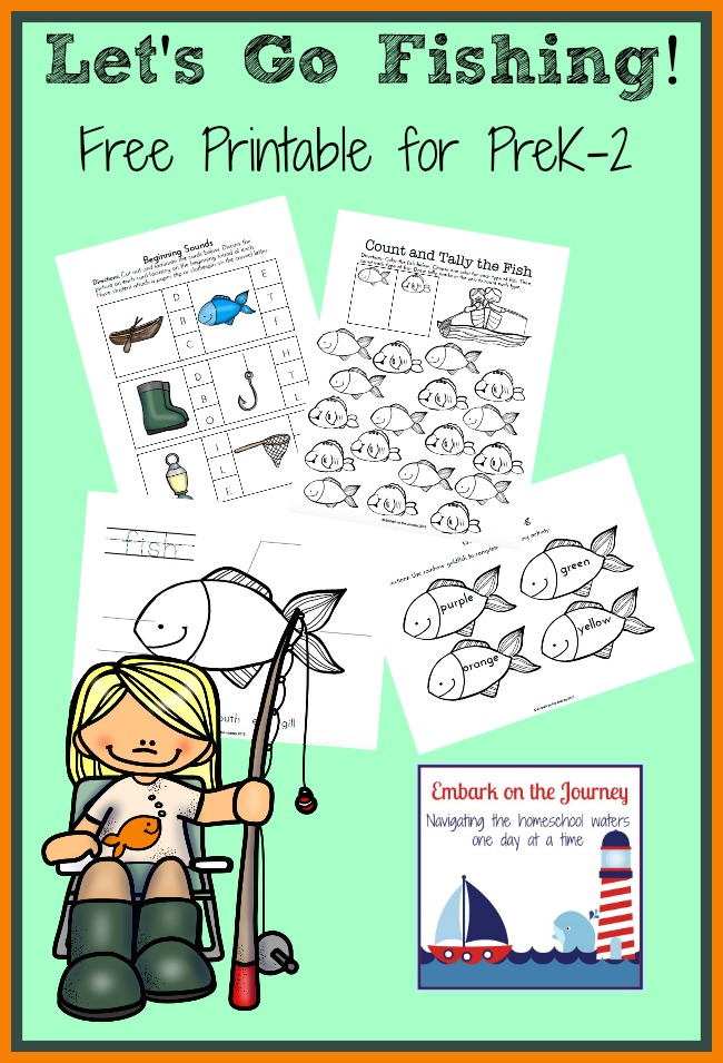 Let's Go Fishing Unit Study and Free Printable