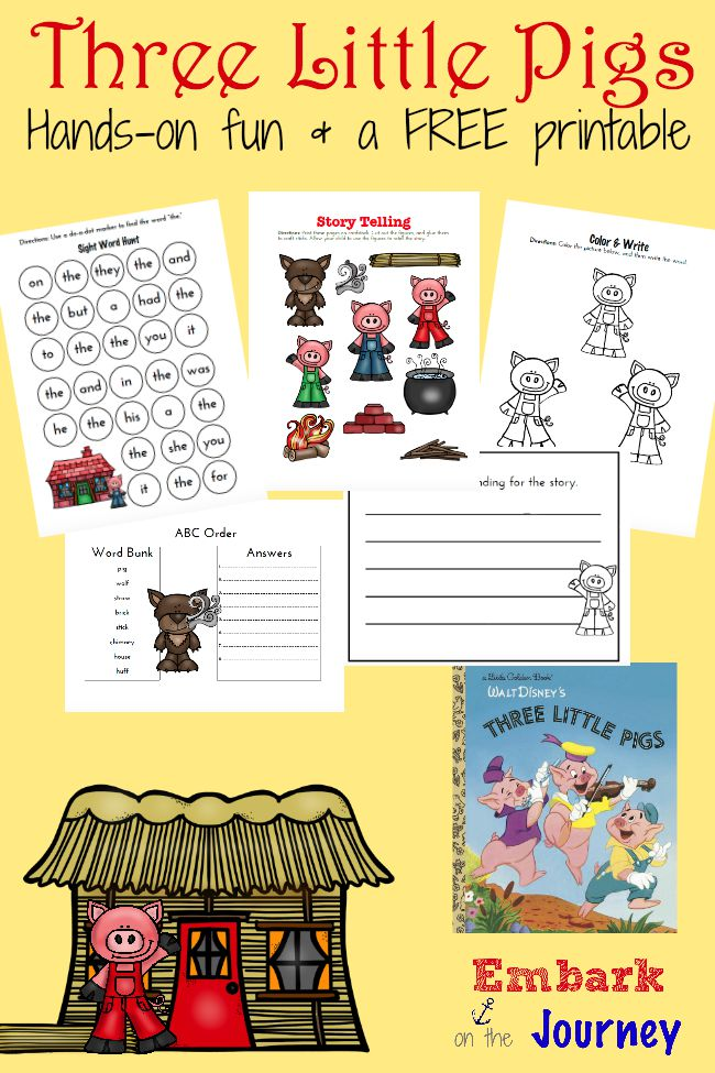 photograph regarding Three Little Pigs Printable named 3 Minimal Pigs Read through-Aloud Pursuits and Totally free Printable