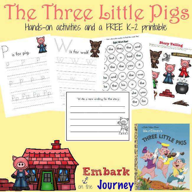 image regarding Three Little Pigs Printable known as 3 Very little Pigs Study-Aloud Routines and Cost-free Printable