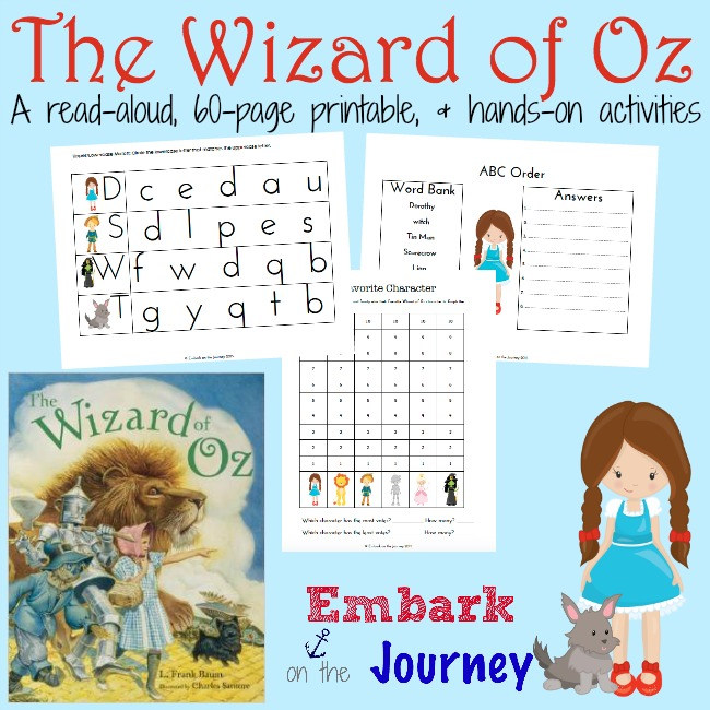 The Wizard of Oz FREE Resources and Printables – Math Wizard Worksheets