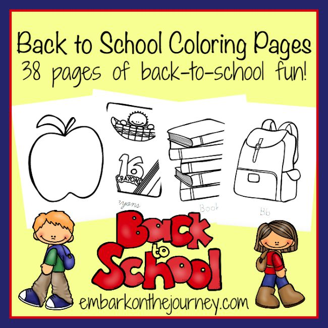 FREE 38-Page Coloring Pack | embarkonthejourney.com