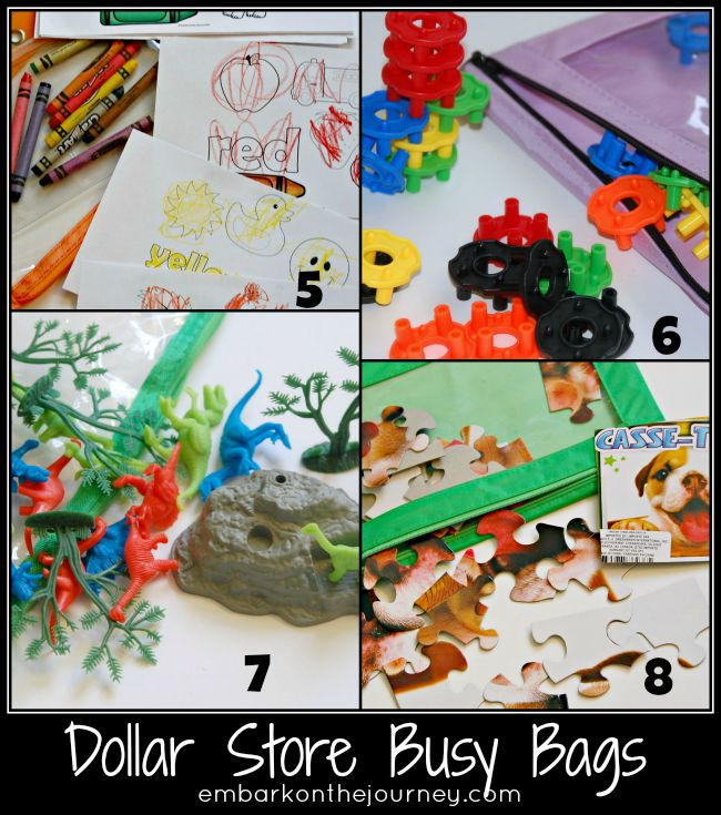 Dollar Store Busy Bags 5-8