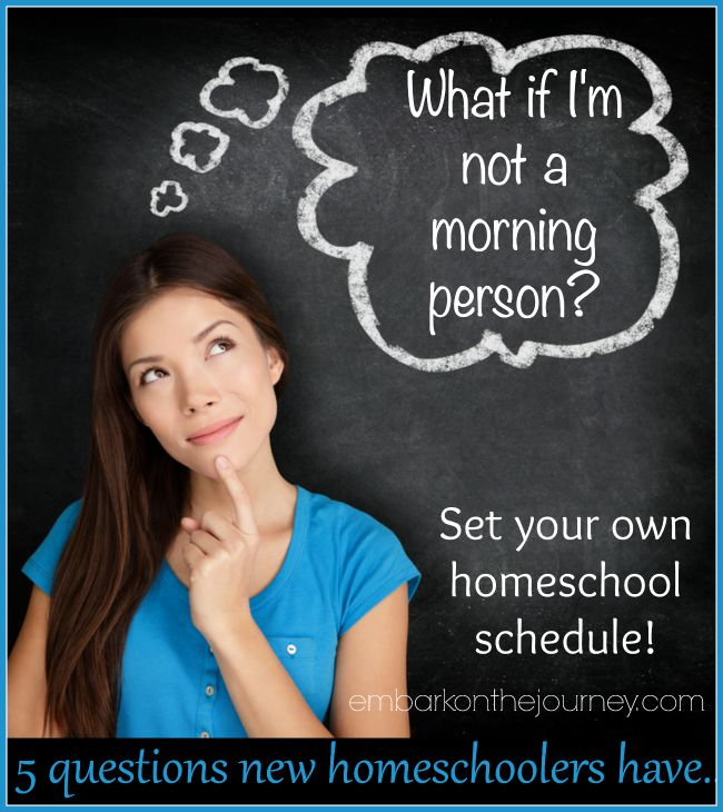 What If I I'm Not a Morning Person? Set Your Own Homeschool Schedule