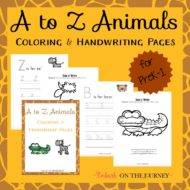 A to Z Animal Themed Handwriting Pages