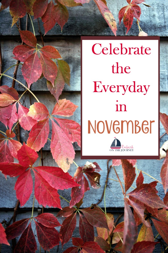 There's more to November than just Thanksgiving. Here's a list of fun ways to celebrate every day in November. | embarkonthejourney.com